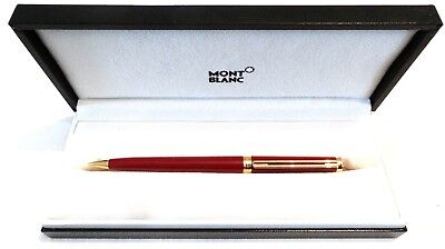 Montblanc Noblesse Oblige Mechanical Pencil In Burgundy & Gold In Box - Nos