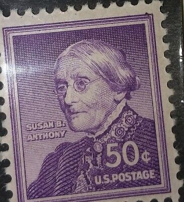US STAMP 1051 50c SUSAN B ANTHONY XF MINT