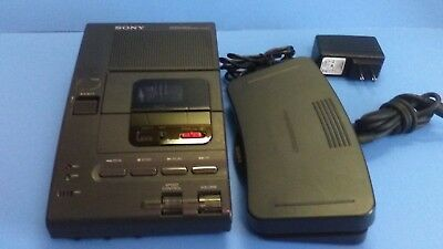 Sony M-2020 Microcassette Dictator Transcriber With Foot Pedal.