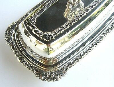 Vintage Silverplate Covered Butter Dish Sheffield Silver Plate Elegant Dining