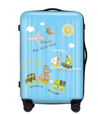E435 Coded Lock Universal Wheel ABS+PC Travel Suitcase Luggage 24 Inches W