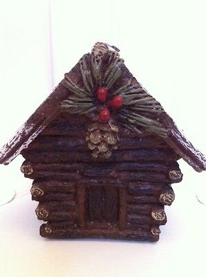 NEW LOG CABIN Shaped CANDLE Rustic Lodge