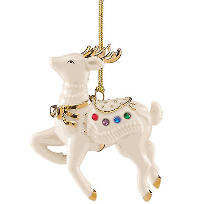 Lenox Reindeer Holiday Gems Jeweled Ornament NEW in Box