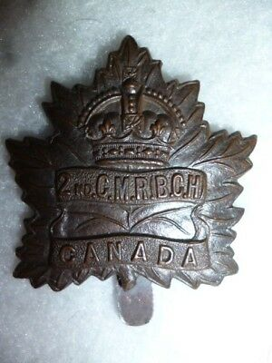 CEF 4-2, 2nd Canadian Mounted Rifles Cap Badge - Canada WW1, Victoria, B.C.