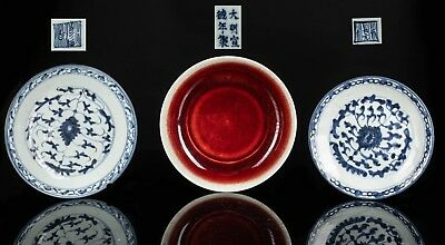 Group Of 3 Chinese Antique Ming Dynasty Dishes CB1435AU