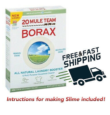 BORAX 500g Pure Slime maker, Crystal Maker, Pest control, Cleaning activator.