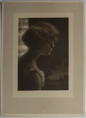 Vintage Portrait of a Woman in profile by Gerhard Sisters  11 by 15 inches