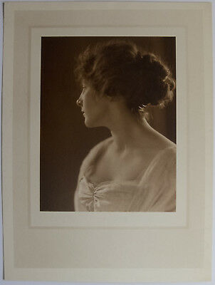 Vintage Portrait of a Woman in Profile.  10 3/4 by 14 3/4 inches.