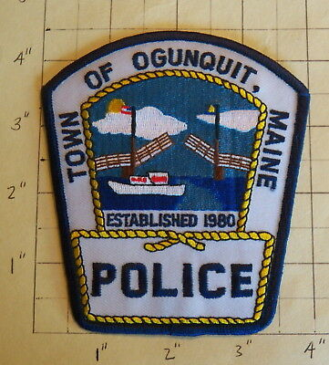 Town of Ogunquit (ME) Police Department Patch  -  Est. 1980            ***NEW***