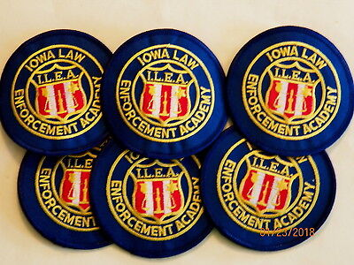 IOWA Law Enforcemnt Academy Patches - Set of 6     (ILEA)     ***NEW***