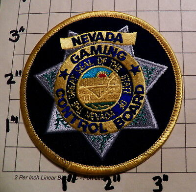 NEVADA Gaming Control Board Patch               ***NEW***