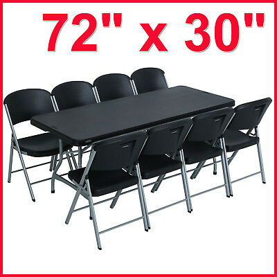 [No Tax] Lifetime Combo - 6' Commercial Grade Folding Table, (8) Folding Chairs