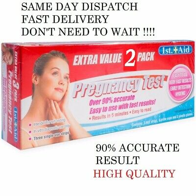3 Pregnancy Test Strips ULTRA EARLY 10mIU HCG Urine Testing Kits 1st AID