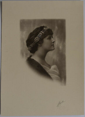 Vintage Portrait of a Woman by Turillo - 9 1/2  by 13 1/4 inches.