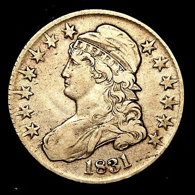 1831 ~**HIGHER GRADE**~ Silver Capped Bust Half Dollar Antique US Old Coin! #H83