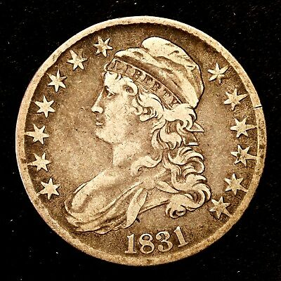 1831 ~**BETTER GRADE**~ Silver Capped Bust Half Dollar Antique US Old Coin! #X96