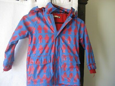 Lily And Dan Lined Waterproof Jacket Size 6 - Robots