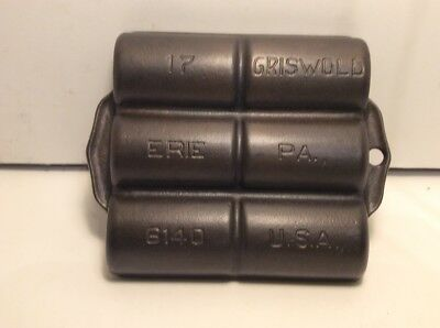 VINTAGE GRISWOLD CAST IRON FRENCH ROLL PAN No17 P/N 6140 VARIATION 6