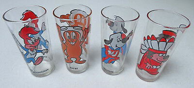Pepsi Collectors glasses Rocky Woody Underdog Go Go Gophers excellent