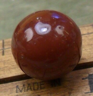 """NICE 7/16"""" Red Ball Paperweight Waistcoat Glass Antique Button 407:2"""