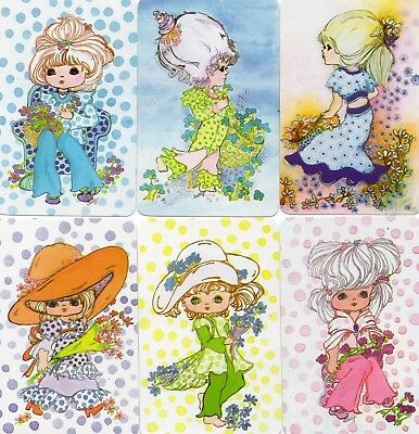 GROOVY GIRLS & GIRLS with SPOTS by Sally Blank Back Swap Playing Cards