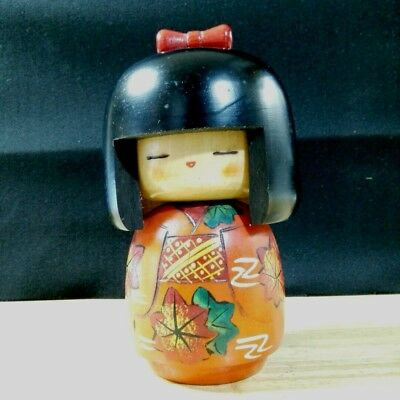 Antique kokeshi Japanese doll cute Japan retro popular rare beautiful EMS F/S!