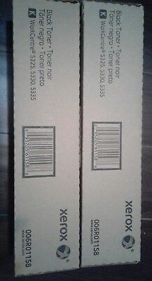 2 Genuine Xerox Black Toner 006R01158 for WorkCentre 5325 5330 5335 (6r1158)