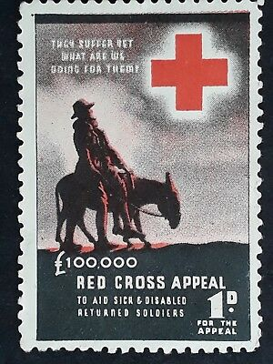 1943- Australia £100,000 Red cross Appeal Cinderella MUH Partial Offset