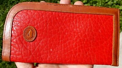 Vintage DOONEY & BOURKE ~ RED LEATHER  EYEGLASS CASE ~ All Weather Leather