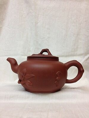 Excellent Chinese Yixing Zisha Clay Pottery Teapot Decorated Mid 20Th