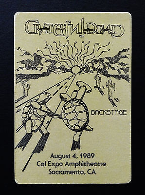 Grateful Dead Backstage Pass Terrapin Station Turtles Dancing Cal Expo 8/4/1989