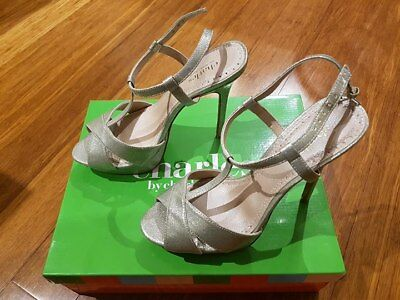 Charles By Charles David 'tangy' Stiletto Heel Shoes - Silver Glitter - Size 9