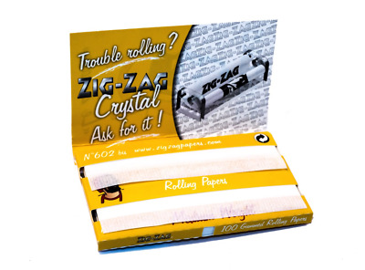 1 ZIGZAG ZIG ZAG Yellow Rolling Papers Double Pack Tobacco Cigarette Roll Paper