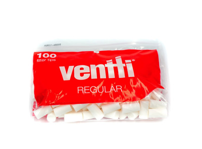 Ventti Regular Filter Tips Red for Cigarette Rolling Paper 100 Count