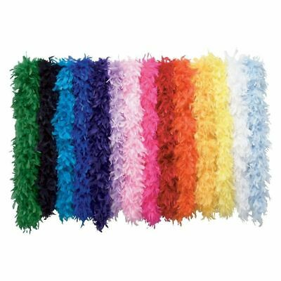 Deluxe Soft Feather Boa Scarf Costume Dress Up Cosplay Party Bright Colours 1.5m