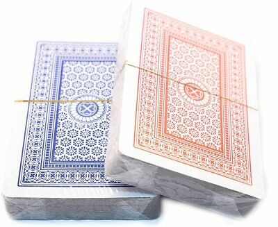 4 Decks of Standard Plastic Playing Cards Poker Blackjack Play Card Game Red