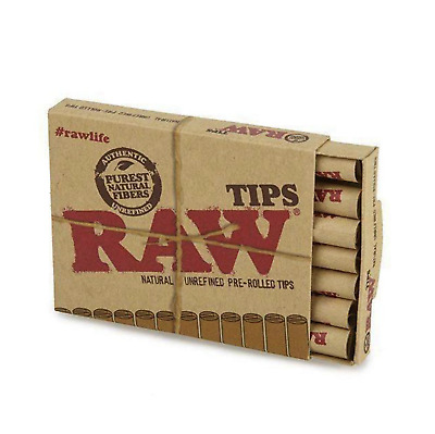 RAW Natural Pre Rolled Tips Easy Unrefined Rolling Smoking Tobacco 21 Tips Pack