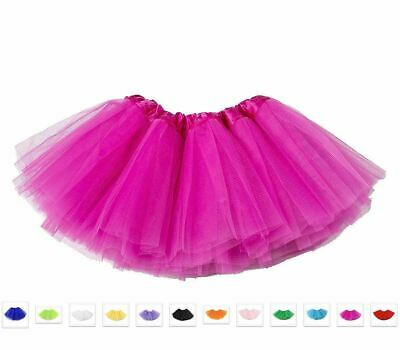 Tutu Fairy Ballet Layered Tulle Skirt Costume Dress Up Party Unisex Kids Adults
