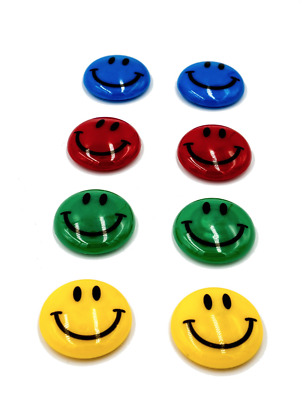 8 Pieces Colourful Smiley Strong Fridge Magnets