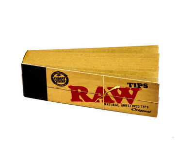RAW Original Tips Natural Paper Filter Smoking Tobacco 50 Tip Booklets
