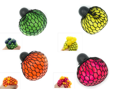 Mesh Squishy Ball Anti Stress Squeeze Grape Ball Stress Relief Ball Toy Gift