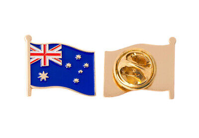Australia Flag Badge Enamel Pin Brooch Fashion Lapel Gold Blue Gift Aussie Pride