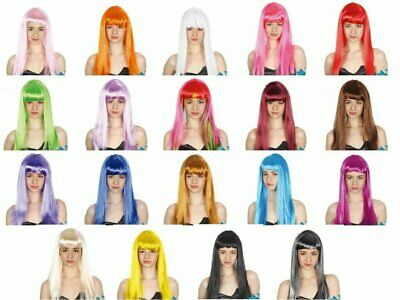 Fancy Dress Up Costume Party Long Wig Straight Cosplay Funk Disco Halloween