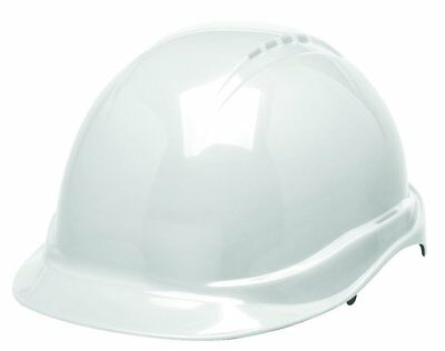 Elvex WELSC506RWHITE White Safety Helmet Non-Vented With 6 Point Ratchet