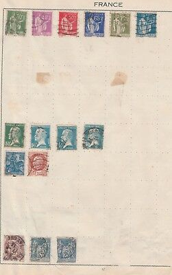 FRANCE Collection Pasteur, Orleans, to 1f 50,  etc Old Pages, As Per Scan #