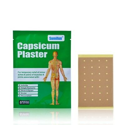 Sumifun 40Pcs/5 Bags Capsicum Plaster Pain Patch Heat Pads for Pain Relief  V3S3