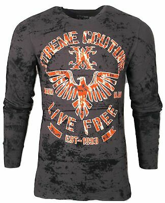 Xtreme Couture by AFFLICTION Men THERMAL T-Shirt RED ZONE Biker MMA UFC $58