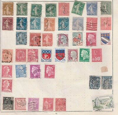 FRANCE Collection Rooster, Troyes, Paris, Saint-lo, etc Old Pages, As Per Scan #