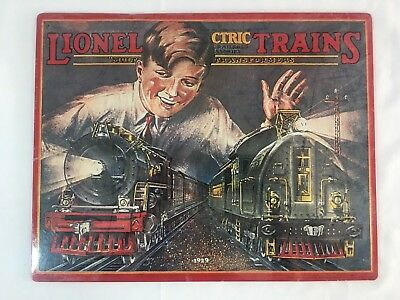 """Lionel Electric Trains 1926 Catalog Cover Tin Sign by Hallmark 11"""" x 14"""""""