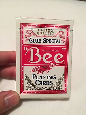 Bee Red Wynn Playing Cards - UNOPENED - RARE - Standard Index